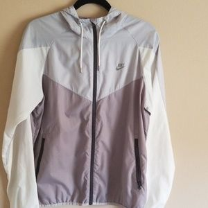 Grey Nike windbreaker jacket